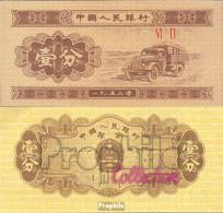 Volksrepublik China Pick-Nr: 860c Bankfrisch 1953 1 Fen Lastwagen - China