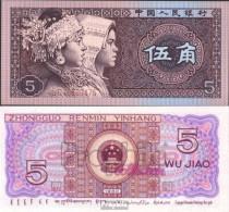 Volksrepublik China Pick-Nr: 883a Bankfrisch 1980 5 Jiao - China