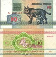 Weißrussland Pick-Nr: 5 Bankfrisch 1992 10 Rublei Luxe - Belarus