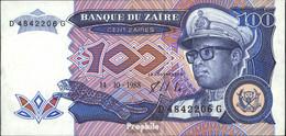 Zaire Pick-Nr: 33a Bankfrisch 1988 100 Zaires - Zaire