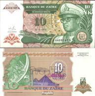 Zaire Pick-Nr: 49 Bankfrisch 1993 10 Makuta (new) Leopard - Zaire