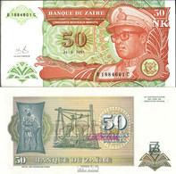 Zaire Pick-Nr: 51 Bankfrisch 1993 50 Makuta (new) Leopard - Zaire