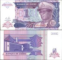 Zaire Pick-Nr: 52a Bankfrisch 1993 1 Zaire (new) Leopard - Zaire
