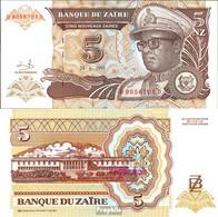 Zaire Pick-Nr: 53a Bankfrisch 1993 5 Zaires (new) Leopard - Zaire