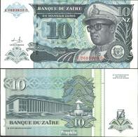 Zaire Pick-Nr: 55a Bankfrisch 1993 10 Zaires (new) Leopard - Zaire
