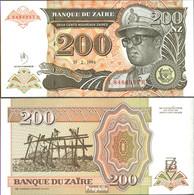 Zaire Pick-Nr: 62a Bankfrisch 1994 200 Nouveaux Zaires - Zaire