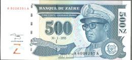 Zaire Pick-Nr: 65a Bankfrisch 1995 500 Zaires (new) - Zaire