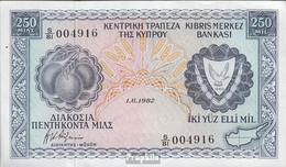 Zypern Pick-Nr: 41c (1.6.1982) Bankfrisch 1982 250 Mils - Chypre