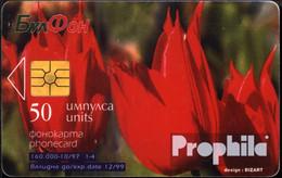 Bulgarien 60 50 Einheiten Gebraucht 1997 Rote Tulpen - Bulgaria