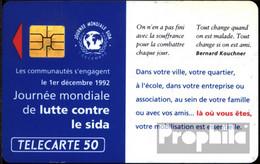 Frankreich 1090 50 Einheiten Gebraucht 1992 Welt-AIDS-Tag - Frankreich