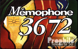 Frankreich 1480 50 Einheiten Gebraucht Memophone 3672 - Frankreich