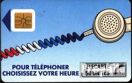 Frankreich 1900 50 Einheiten Gebraucht Telefonschnur,blau - Francia
