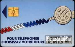 Frankreich 1910 120 Einheiten Gebraucht Telefonschnur,blau - Frankreich