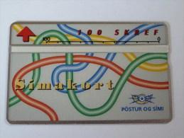 ICELAND - Mint - L&G - Colour Lines - 111A - Simakort - 100 Units