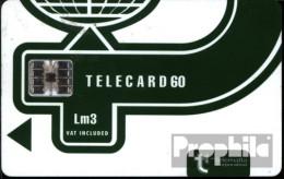Malta 1410 60 Einheiten Gebraucht Telecard Lm3, Dunkelgrün - Malta