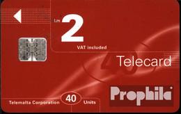 Malta 1450 40 Einheiten Gebraucht 1997 Telecard - Malta