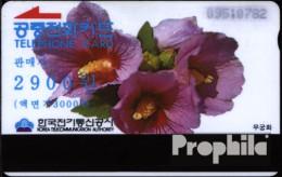 Süd-Korea 300 3000 Won Gebraucht Blumen - Korea, South