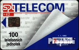 Tschechoslowakei 880 100 Einheiten Gebraucht Telecom 1.1.93 - Czechoslovakia