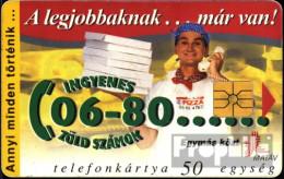 Ungarn 9908 50 Einheiten Gebraucht 1998 Pizzabäcker - Hungary
