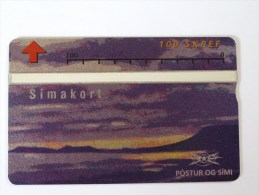 ICELAND - Mint - L&G - 303C - Simakort - Sunset Sea - 100 Units - ICE07 - Iceland