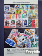 Ruanda 100 Verschiedene Marken Postfrisch - Ruanda-Urundi