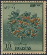Pakistan 1968 MNH S.G 208 Orange Tree, Fruit - Pakistán