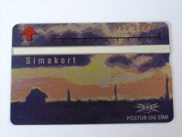 ICELAND - Mint - L&G - 303B- Simakort - Sunset City - 100 Units - ICE06