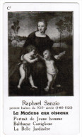RAPHAEL SANZIO PEINTRE ITALIEN DU XVIe SIECLE 1483-1520 LA MADONE AUX OISEAUX - Histoire