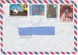 Z3] Enveloppe Cover Bolivie Bolivia Pape Jean-Paul II Pope John-Paul II Religion Noël Christmas Peinture Rupestre - Bolivia