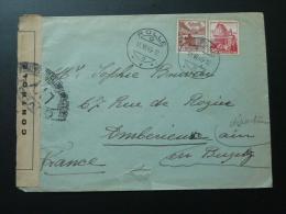 Lettre Censurée Censure Controle Postal Militaire Censored Cover Rolle Suisse 1945 - Covers & Documents
