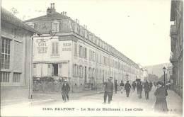 90 - BELFORT - La Rue De Mulhouse - Les Cités - Café Restaurant Messin - Belfort - Ville