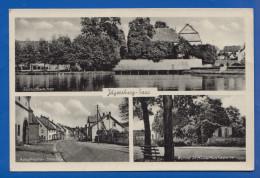 Deutschland; Jägersburg Saar; Adolf Hitler Strasse, Hubertuskapelle, Schlossweiher - Deutschland