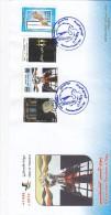 Palestine State,issue Of Gaza 2014, Prisoner's Day 4v. Compl.set On Official Illustr. FDC- Limited-SKRILL PAY ONLY - Palestine