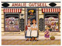 "CPM - ""Tante Emma-Laden"" Par Klaus Burandt - Illustration Naïve BOULANGERIE - Magasins"
