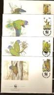 Sainte-Lucie Saint Lucia 1988 Yvertn° FDC 882-85 (°) Used Cote 12 Euro Faune Oiseaux Vogels Birds - St.Lucie (1979-...)