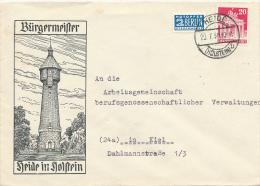 HEIDE - 1950 , Brief Nach Kiel - Leuchtturm - Covers & Documents