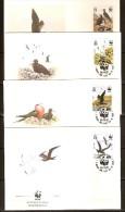 Ascension 1990 Yvertn° FDC 503-06 (°) Used  Cote 12 Euro Faune WWF Oiseaux Vogels Birds - Ascension (Ile De L')