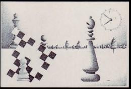 Schaken Schach Chess ajedrez �checs - prentkaart - Variaties op het thema schaken - zie scan