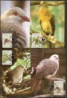 Maurice Mauritius 1985 Yvertn° CM MK  631-34 (°) Used Cote Des Timbres 75 FF Faune Oiseaux Vogels Birds - Maurice (1968-...)