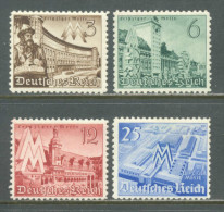 1940 DEUTSCHES REICH LEIPZIG SPRING FAIR MICHEL: 739-742 MNH ** - Deutschland