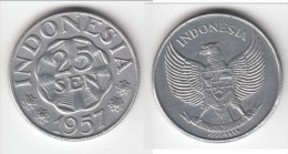 **** INDONESIE - INDONESIA - 25 SEN 1957 NATIONAL EMBLEM **** EN ACHAT IMMEDIAT