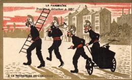 Chromo  / Image -   LA  PANSMAINE - Charrier PARIS - POMPIERS -   A La Recherche De L´ Incendie... - Vieux Papiers