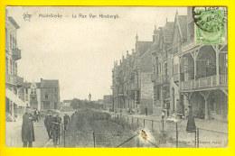 MIDDELKERKE 1911 RUE VAN HINSBERG KANT LEOPOLDLAAN MET RECHTS VILLA DES ROSERAIES PENSION O35 - Middelkerke