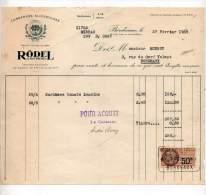 Conserves Alimetaires, Rödel & Fils Frères, Bordeaux 1929 - Levensmiddelen