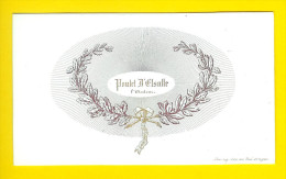 Ca1850 CARTE PORCELAINE POULET D' ESALLE AUTEUR PORSELEINKAART Porceleinkaart VISITE LITHO DU ROI DAVELUY Schrijver 1140 - Cartoncini Da Visita