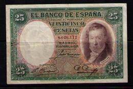 BILLETE DE 25 PESETAS DE 1931  MUY BONITO - [ 2] 1931-1936 : Republiek