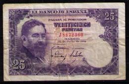 BILLETE DE 25 PESETAS DE 1954 - BONITO - [ 3] 1936-1975 : Regency Of Franco