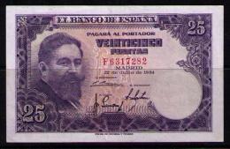 BILLETE DE 25 PESETAS DE 1954 - MUY BONITO - 25 Pesetas