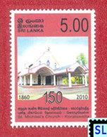 Sri Lanka Stamps 2010, St. Michael's Church -  Koralawella, MNH - Christianity