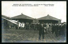 59 - TRÈS RARE - CARTE PHOTO - MEETING DE VALENCIENNES - Aérodrome Des Maisons Blanches - Valenciennes